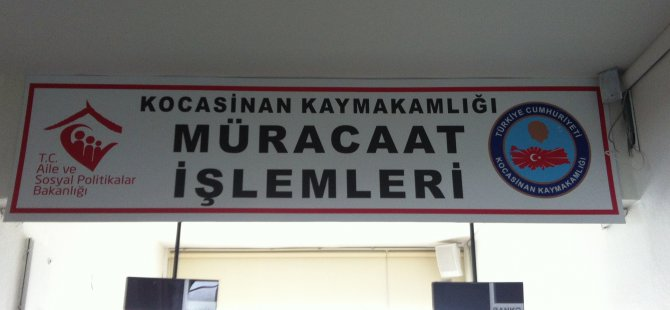 KOCASİNAN KAYMAKAMLIĞI'NDAN GELİR TESTİ DUYURUSU