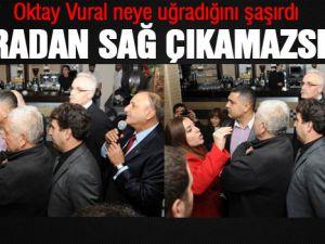 MHP Grup Başkanvekili Oktay Vural protesto edildi