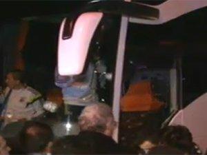Fenerbahçe takım otobüsüne pompalı silahla saldırı