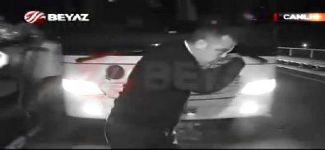 Fenerbahçeli Vurulan şoförün görüntüleri
