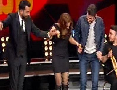 Karadenizli şarkıcı Sertab'a horon teptirdi