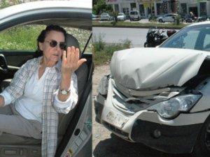 Fatma Girik kaza geçirdi