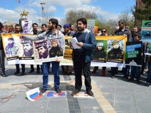 KAYSERİ'DE RUSYA PROTESTOSU