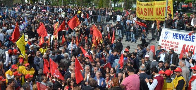 KAYSERİ'DE 1 MAYIS COŞKUYLA KUTLANDI