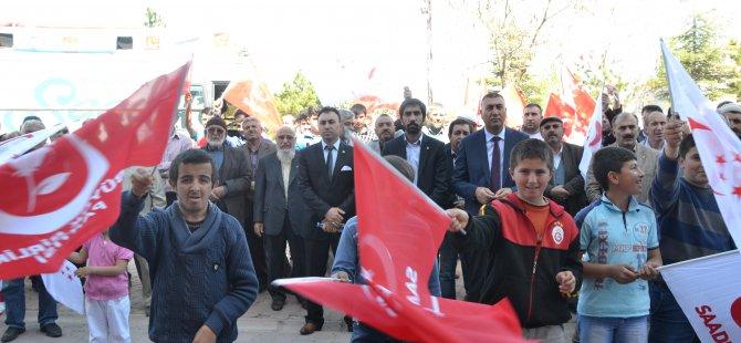 SAADET PARTİSİ YEMLİHA'YA ÇIKARMA YAPTI