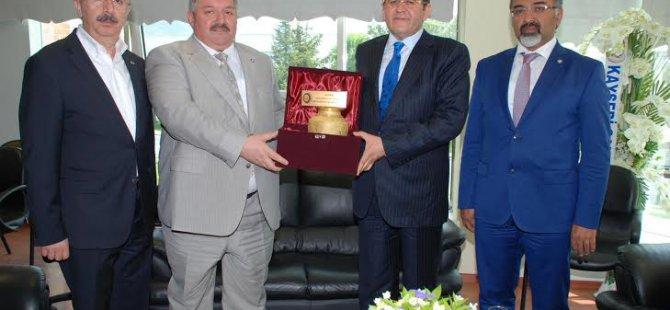 KAYSO'dan OSB Başkanı Nursaçan'a Hayırlı Olsun Ziyareti
