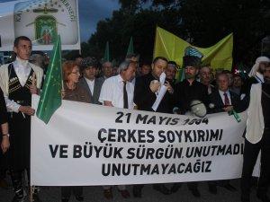 KAYSERİ'DE ÇERKESLER 'ÇERKES' KATLİAMINI UNUTMADI