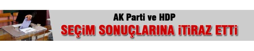 HDP ve AK Parti'den itiraz