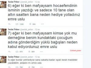 Sedat Peker'den Emre Uslu'ya 'mafya' cevabı