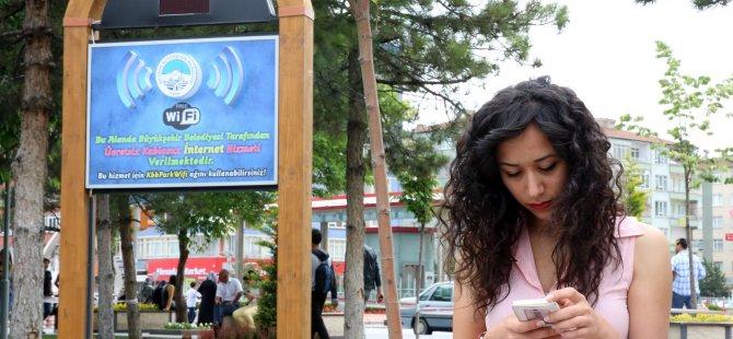 Büyükşehir'den 22 yerde internet erişim hizmeti