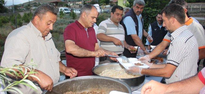 YAHYALI'DA İLK İFTAR SOFRASI AĞCAŞAR'DA KURULDU