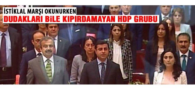 HDP'liler İstiklal Marşı'nı okumadı-video