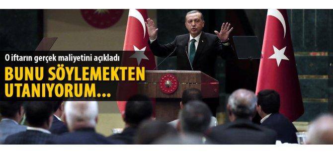 Cumhurbaşkanı Erdoğan: İftar yemeğinin maliyeti 3 bin 390 lira