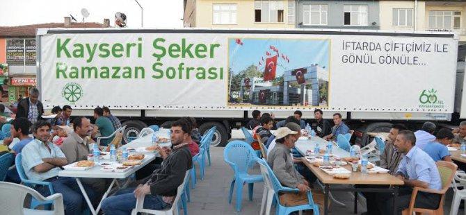 Kayseri Şeker Sofrası Boğazlıyan'da kuruldu