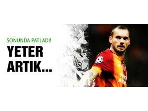 Sneijder sonunda patladı