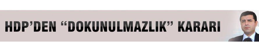 Selahattin Demirtaş'tan 'dokunulmazlık' açıklaması