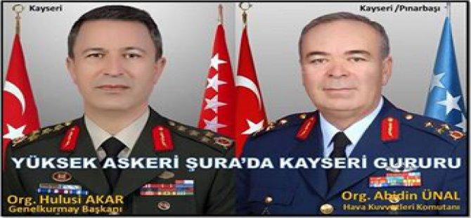 ASKERİ ŞURADA KAYSERİ GURURU