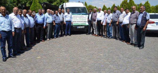 Başkan Hüseyin Akay'a 7 düvel'den çiftçilerden tam destek