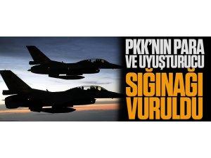 PKK'ya büyük darbe; para ve uyuşturucu sığınağı vuruldu