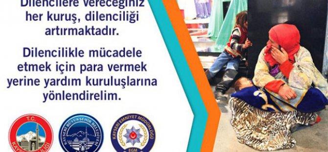 Kayseri'de Dilencilikle mücadele dönemi başlıyor