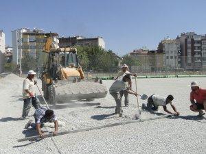 DEVELİ STADI'NDAKİ ÇALIŞMALAR SÜRÜYOR