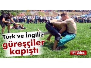Türk ve İngiliz güreşçiler er meydanında kapıştı