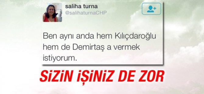 Ben aynı anda hem Kılıçdaroğlu hem de Demirtaş'a vermek istiyorum