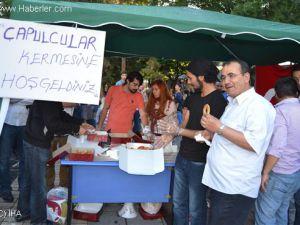 KAYSERİ'DE ÇAPULCULAR KERMES YAPTI