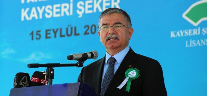TBMM Başkanı Yılmaz Şeker Fabrikası'nın temel atma törenine katıldı