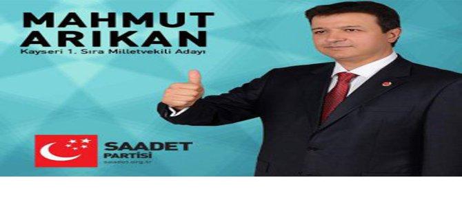 Kayseri  SP.1.sıra Milletvekili adayi Mahmut ARIKAN
