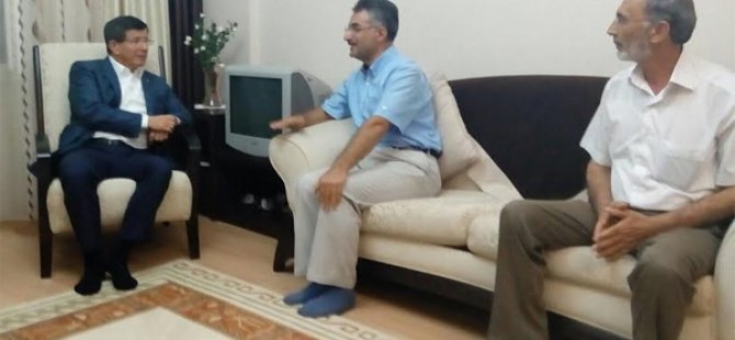 Başbakan Davutoğlu'ndan Nurettin Bay'a taziye ziyareti