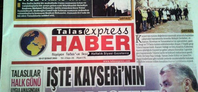 Talas Express Haber El Değiştiriyor...