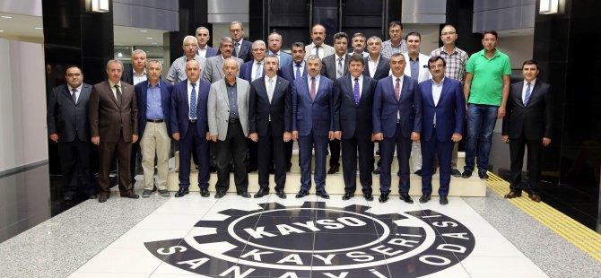 BAŞKAN ÇELİK KAYSERİ SANAYİ ODASI'NDA