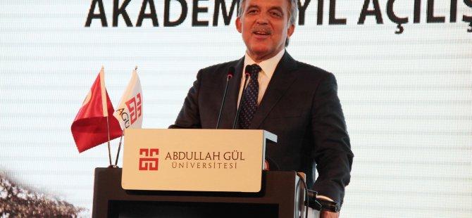 Abdullah Gül, memleketi Kayseri'de Açılışa katıldı