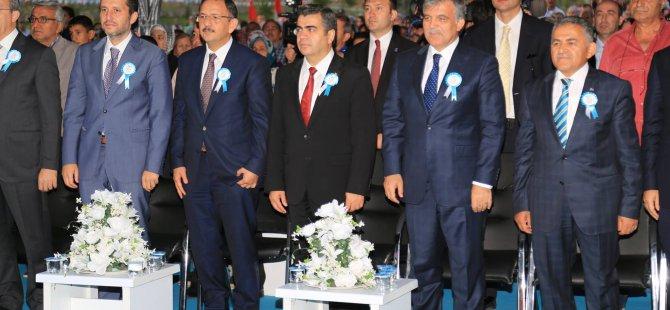 Gül,Melikgazi Belediyesince yaptırılan Erbakan Parkı'nın açılışını gerçekleştirdi