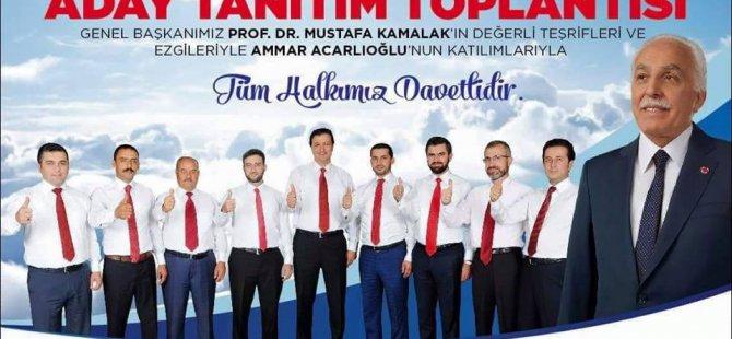 SP GENEL BAŞKANI MUSTAFA KAMALAK 7 EKİM'DE KAYSERİ'DE