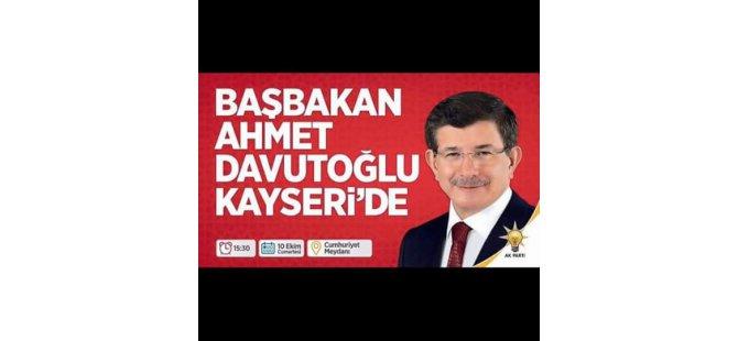 Başbakan Ahmet Davutoğlu Kayseri'de