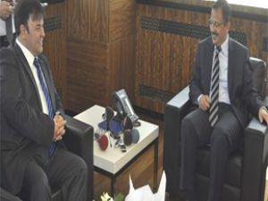 Erciyesspor Başkanı Eren Özhaseki'yi Ziyaret  Etti