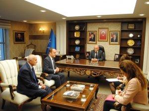 Avrupa Birliği  AK Parti İl Başkanı Cahit Özden'i ziyaret etti
