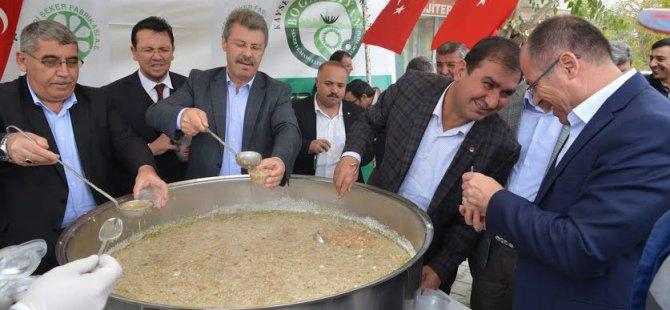 Kayseri Şeker  Aşure  kervanı Yenifakılı'dan start aldı.