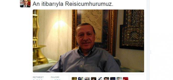 Cumhurbaşkanı Erdoğan'dan seçim fotoğrafı