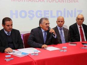 MELİKGAZİ'DE MUHTARLAR TOPLANTISI