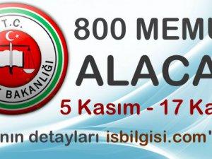 Adalet Bakanlığı 800 Memur Alacak