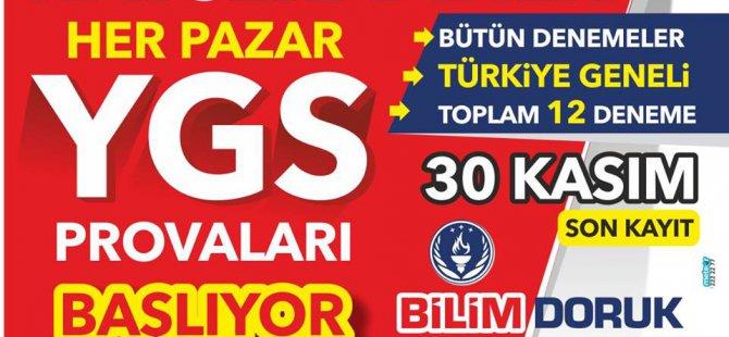 KAYSERİ'DE BİR İLK YGS PROVALARI BAŞLIYOR...