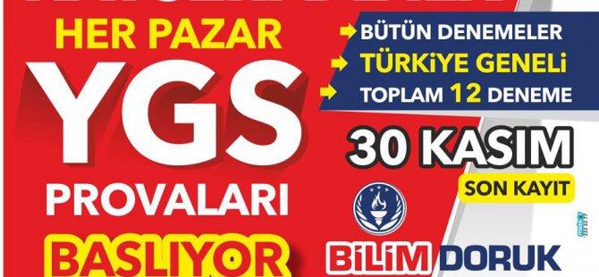 KAYSERİ'DE BİR İLK YGS PROVALARI BAŞLIYOR