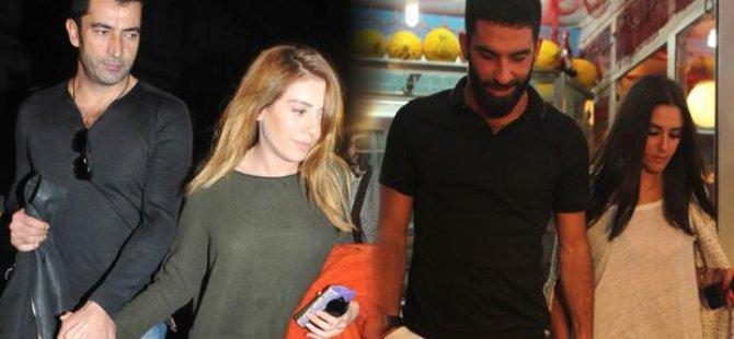 Arda Turan, Sinem Kobal ve Kenan İmirzalıoğlu ile pişti oldu