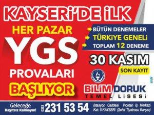 KAYSERİ'DE BİR İLK HER PAZAR YGS