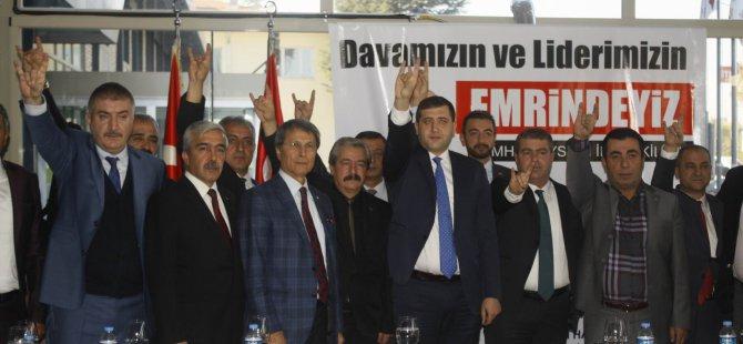MHP KAYSERİ DELEGELERİNDEN BAHÇELİ'YE TAM DESTEK