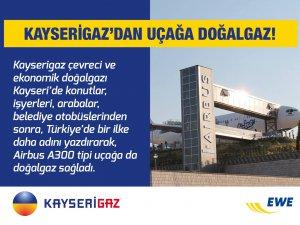 KAYSEİGAZ'DAN UÇAĞA DOĞALGAZ!