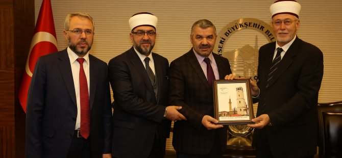 Müftüler Büyükşehir Belediye Başkanı Çelik'i ziyaret ettiler